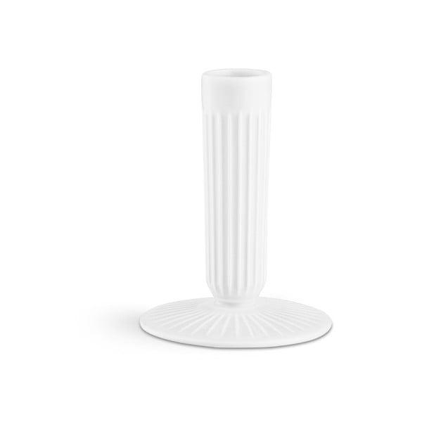 Sfeșnic din ceramică Kähler Design Hammershoi, înălțime 12 cm, alb