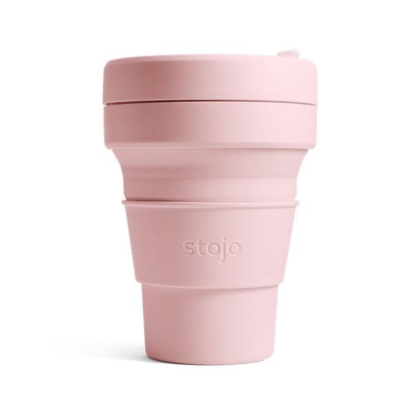 Růžový skládací hrnek Stojo Mini Tribeca, 237 ml