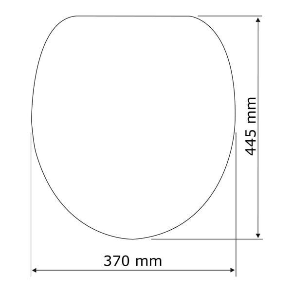 Bílé WC sedátko se snadným zavíráním Wenko Mora, 44,5 x 37 cm