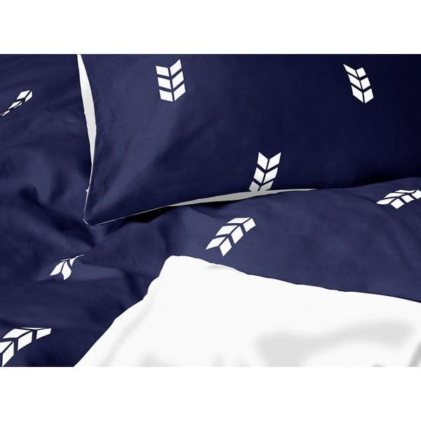 Modré povlečení Hawke&Thorn Finch Straw,240x220cm +polštář 50x60cm
