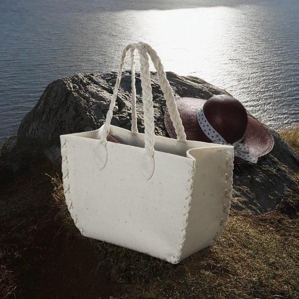 Menší plstěná taška, béžová