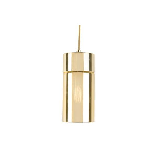 Lustră cu abajur cu efect oglindă Leitmotiv Lax, auriu