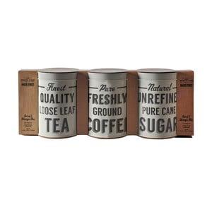 Set 3 recipiente pentru cafea, ceai și zahăr Mason Cash Baker Lane