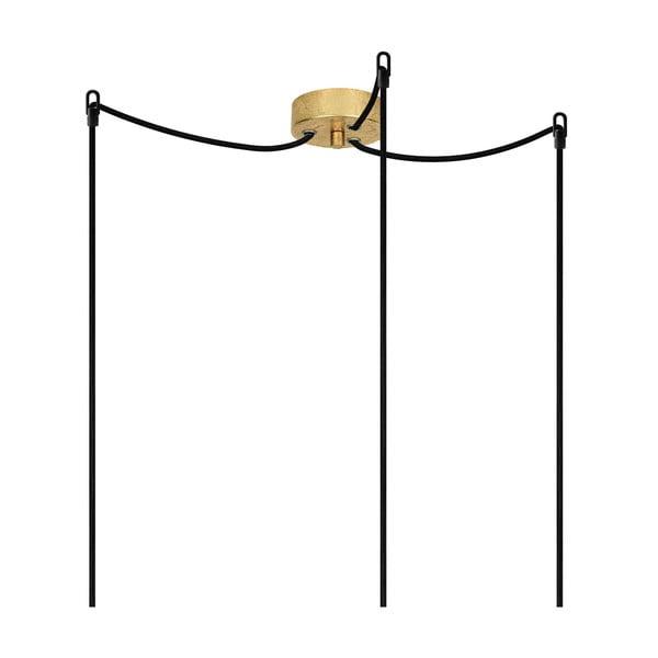 Tři závěsné kabely Cero, zlatá/černá/zlatá