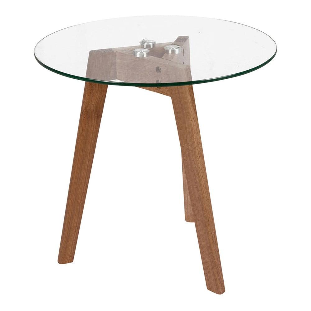Odkládací stolek se skleněnou deskou Evergreen House Paris