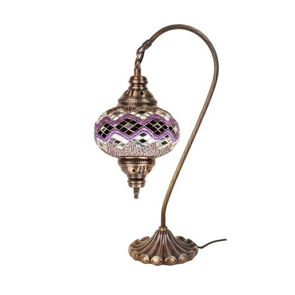 Skleněná ručně vyrobená lampa Fishing Orchid, ⌀17 cm