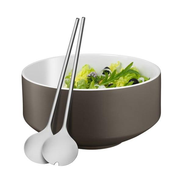 Set boluri salată și lingură WMF Cromargan® Moto, ⌀ 13 cm