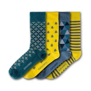 Sada 5 párů unisex ponožek Black&Parker London Tresco Abbey, velikost 37 - 43