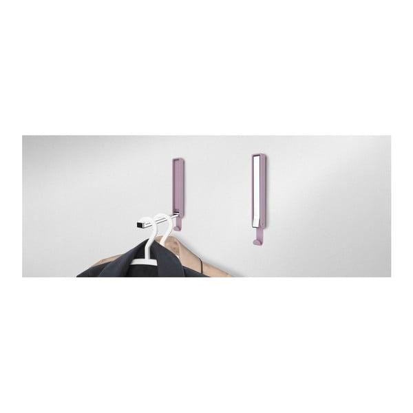 Růžový dvojitý skládací háček Wenko Basic GAMMA