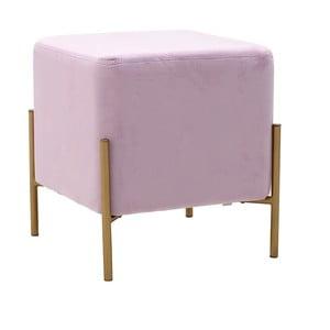 Růžová stolička sesametovým potahem InArt Metalo