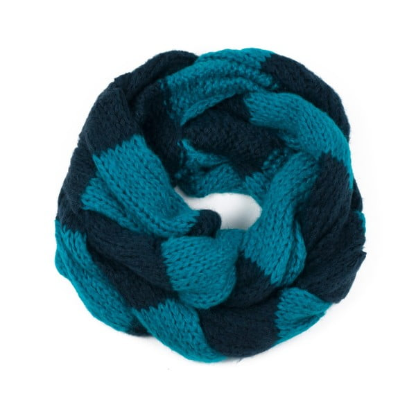 Fular circular Art of Polo Ruby, albastru-negru