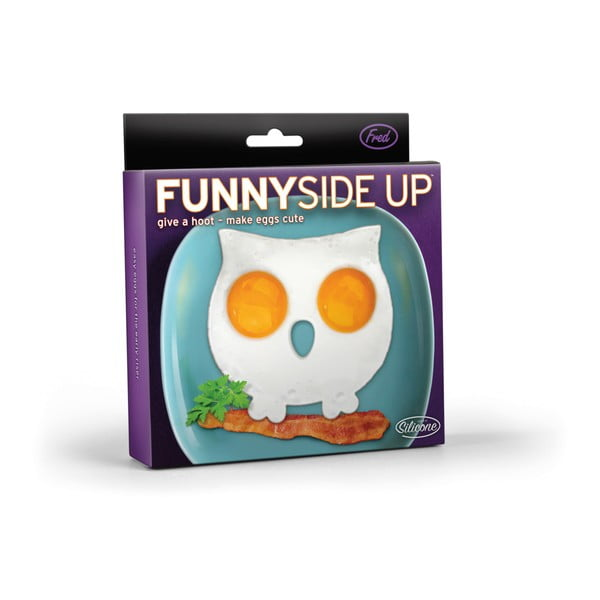 Fialová soví forma na vajíčka Fred & Friends Funny Side Up