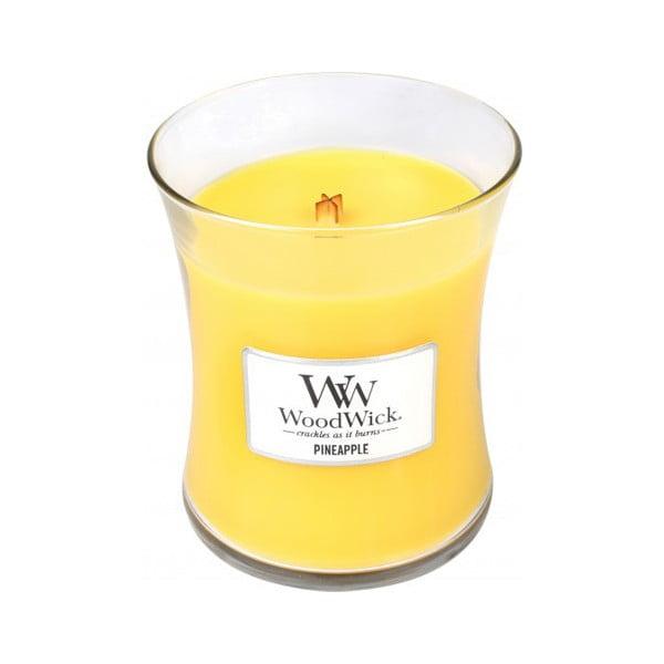 Vonná svíčka WoodWick v oválné váze Fresh Pineapple, 60 hodin