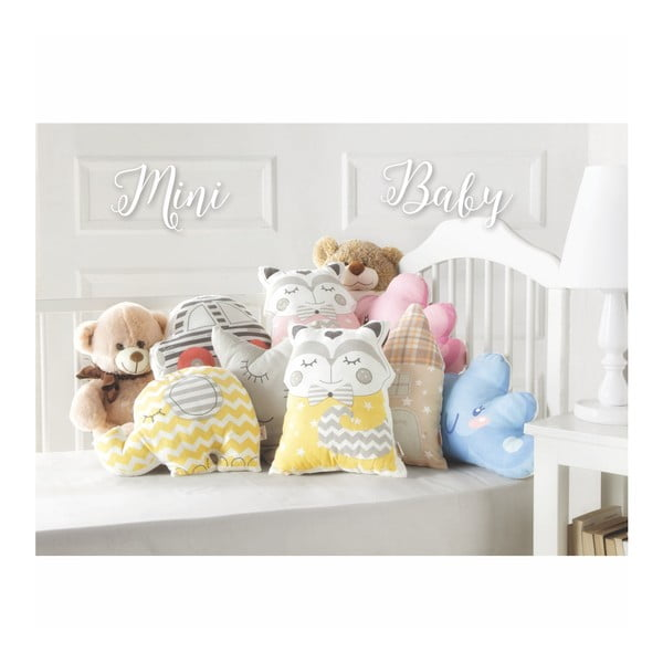 Žlutý dětský polštářek s příměsí bavlny Apolena Pillow Toy Hurro, 21 x 40 cm