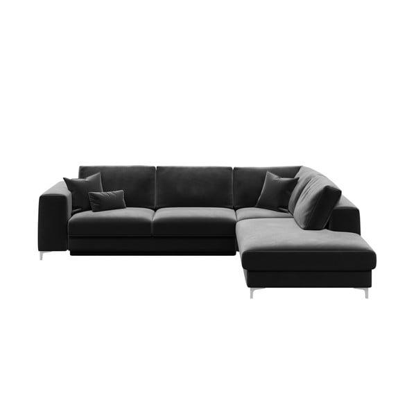 Rothe sötétszürke kinyitható kanapé, jobb oldali - devichy