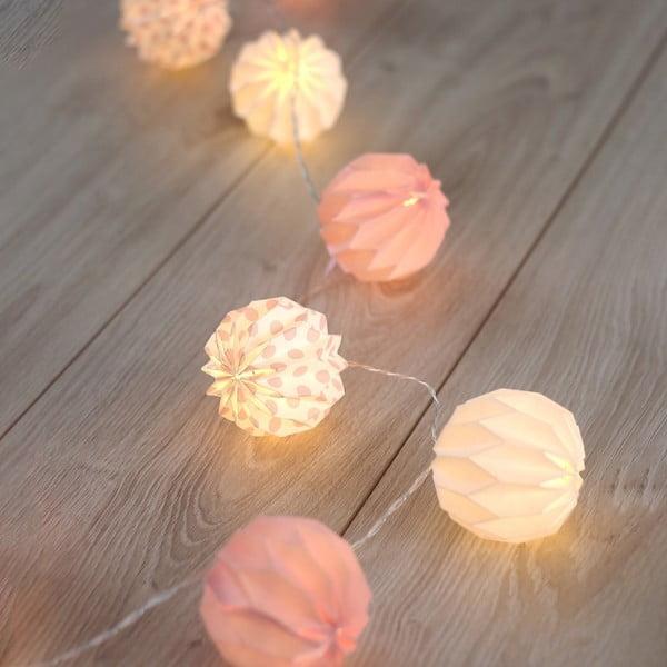 Dekoratívna svietiaca girlanda DecoKing Ball