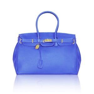 Kožená kabelka Emdo, modrá