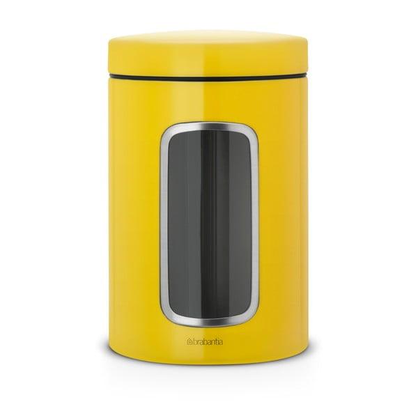 Żółty pojemnik na żywność ze stali nierdzewnej Brabantia