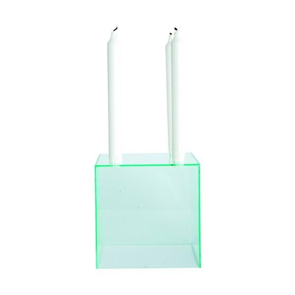 Stojan na svíčky, zelený