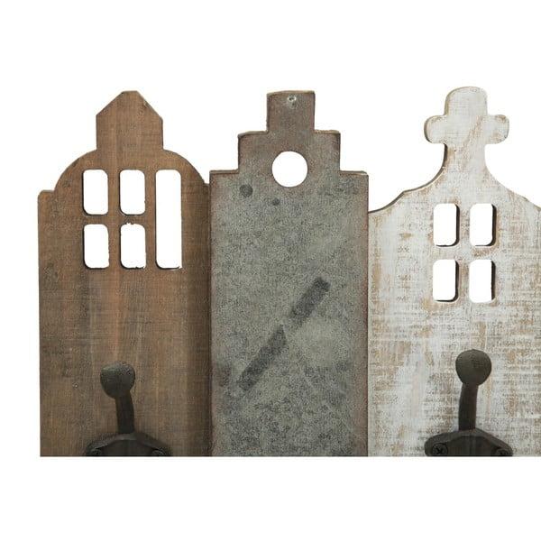 Nástěnný věšák ze dřeva a kovu Mauro Ferretti City