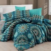 Lenjerie de pat cu cearșaf Hula, 160 x 220 cm