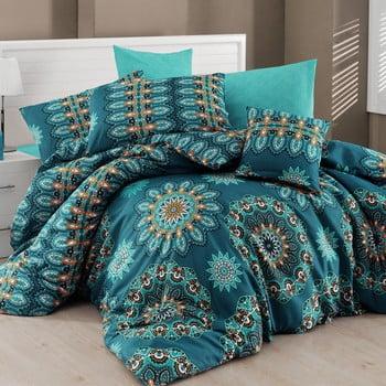 Lenjerie de pat cu cearșaf pentru pat dublu Nazenin Home Hula, 160 x 220 cm imagine