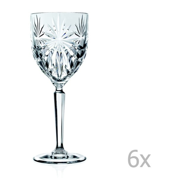 Sada 6 pohárov na víno RCR Cristalleria Italiana Piacenza, 290 ml