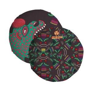 Oboustranný polštář Madre Selva Hut, ⌀ 45 cm