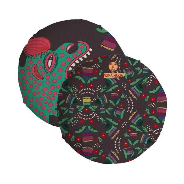 Pernă reversibilă Madre Selva Hut, ⌀ 45 cm