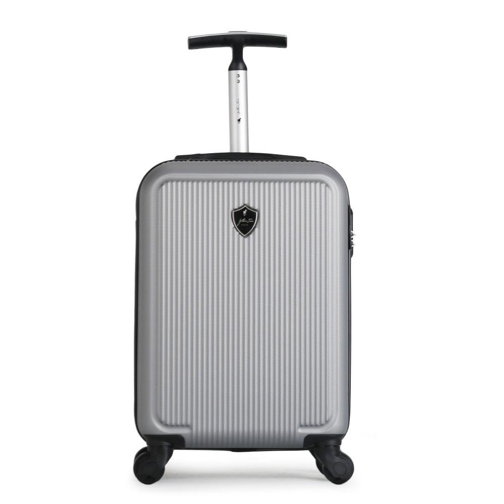 Šedý cestovní kufr na kolečkách GENTLEMAN FARMER Marbo Valise Cabine, 37 l