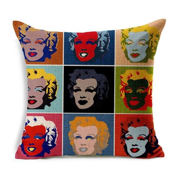 Povlak na polštář Marilyn Warhol, 45x45 cm