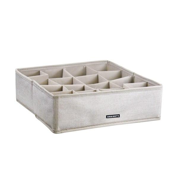 Úložný box s přihrádkami Ordinett Linette
