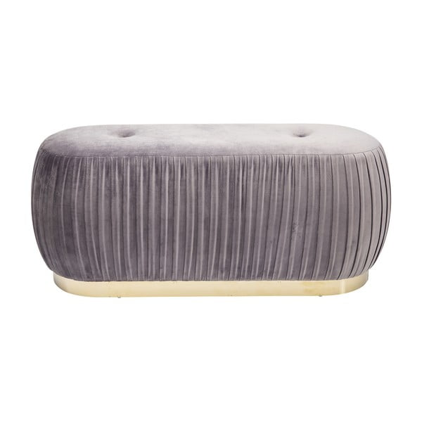 Sivá zamatová lavica Kare Design Pigalle
