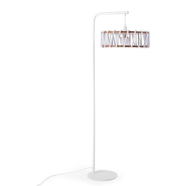 Macaron állólámpa fehér konstrukcióval és nagy fehér lámpabúrával - EMKO