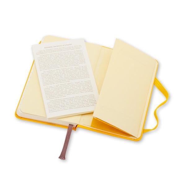 Zářivě žlutý Moleskine XS, linkovaný