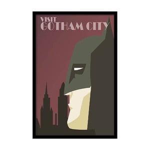 Plakát Visit Gotham City, 35x30 cm