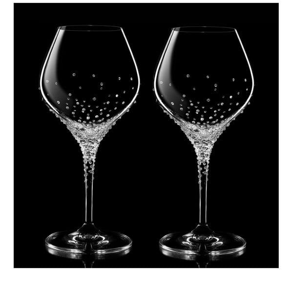 Sada 2 sklenic na bílé víno Nemesis se Swarovski Elements v luxusním balení