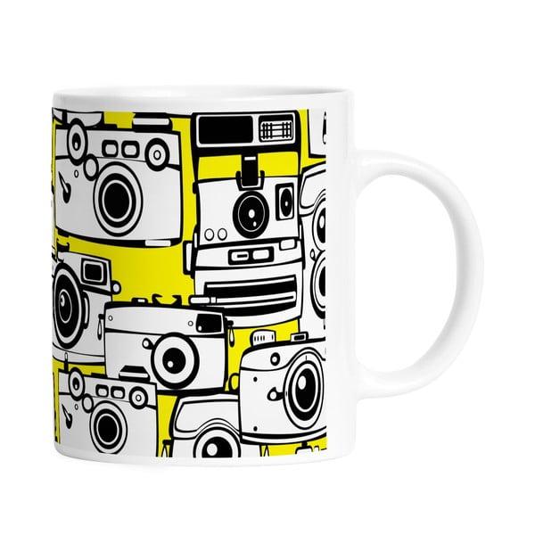 Keramický hrnek Yellow Cameras, 330 ml