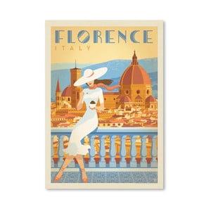 Plakát Americanflat Florence Italy, 42 x 30 cm