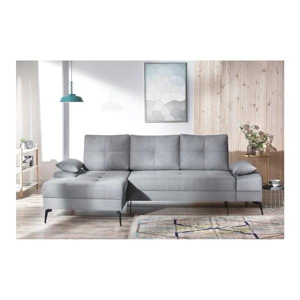 SVEN III szürke kinyitható kanapé, bal oldali kivitel - Bobochic Paris