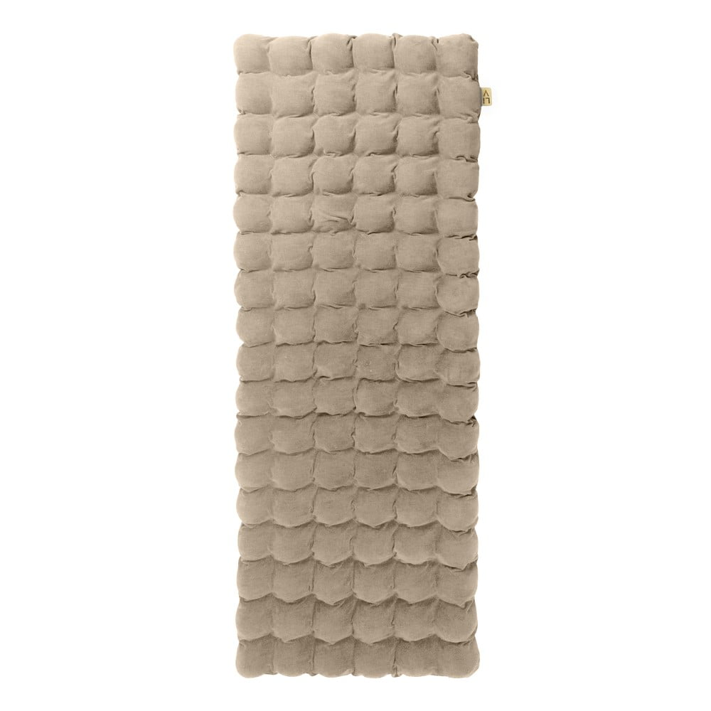 Béžová relaxační masážní matrace Linda Vrňáková Bubbles, 65 x 200 cm