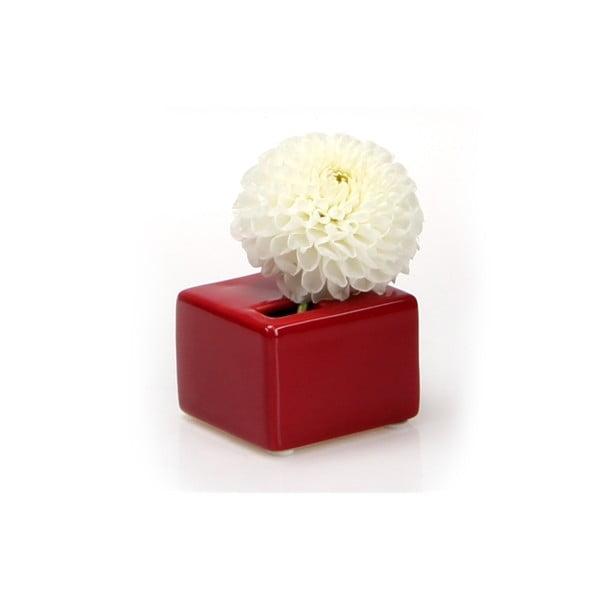 Vázička Cube, red