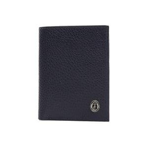 Modrá pánská kožená peněženka Trussardi Symbiosis, 12,5 x 9,5 cm