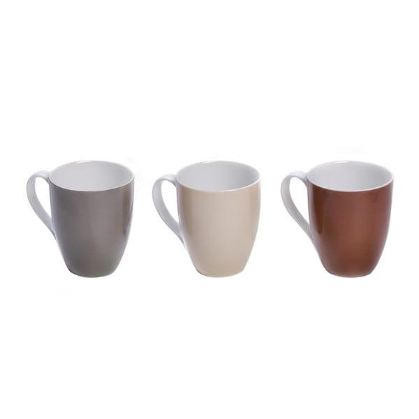 Sada 3 barevných porcelánových hrnků Sola Lunasol. 320ml