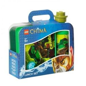 Láhev na pití a box na svačinu Legend of Chima, zelené