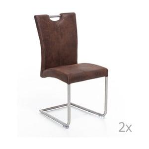 Sada 2 hnědých židlí Woodking Shot