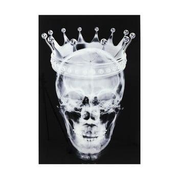 Tablou din sticlă pentru perete Kare Design Skull, 120 x 80 cm