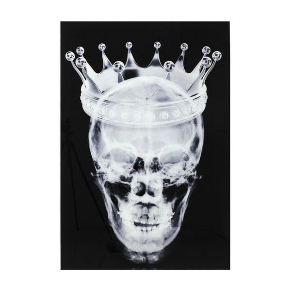 Nástěnný skleněný obraz Kare Design Skull, 120x80cm