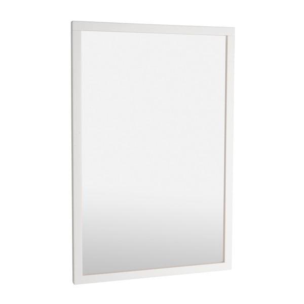 Bílé dubové zrcadlo Rowico Lodur