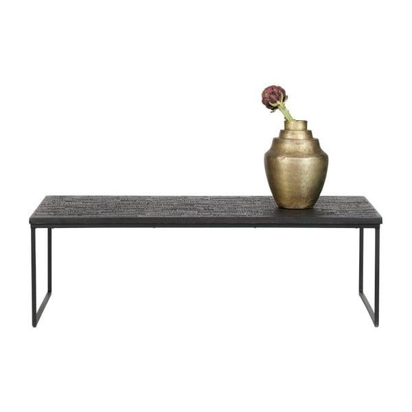 Čierny konferenčný stolík s doskou z recyklovaného teakového dreva De Eekhoorn Sharing